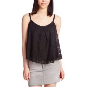 Guess summer black lace top